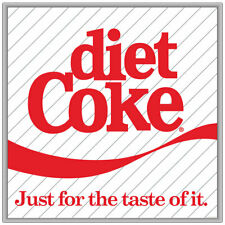 Diet Coke Just For The Taste Of It 1980s Style Decal 24 x 24 Vintage Style Decor