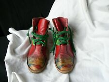 Custom made leather high top boot size 7 US 40 Euro