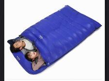 Double Mummy Duck Down Sleeping Bag Ultra Light Camping Portable waterproof Flea