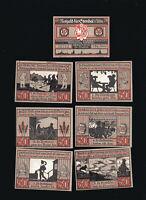7x Notgeld STENDAL Altmark Serie 1921 50 Pf Brauchtum Volkskunde top
