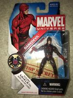"DAREDEVIL Marvel Universe Dark Suit Variant 4"" Action Figure #8 Hasbro 2009"