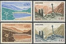 Andorra 1961 Gothic Cross/Lake/Trees/Mountains/Nature/Heritage 4v (n44090)