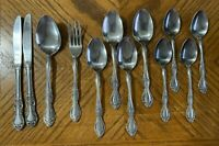Reed & Barton Rebacraft Stainless CANDACE ANDREA Flatware Japan Lot of 12