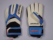 Reusch Soccer Goalie Gloves PULSE R2 Impact 3670773S Adult Size 9 SAMPLE BLUE