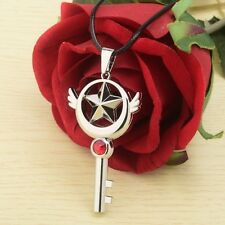 1pc CARDCAPTOR SAKURA Necklace with Pendant Star Key Alloy Silver Cosplay Props