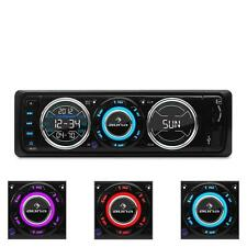 CAR STEREO RADIO USB MP3 SD SINGLE DIN MOSFET AMPLIFIER 4 X 75W LED * FREE P&P *
