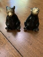 "VTG BLACK BEAR (4""tall  X  2 3/4""wide.  X  2 1/2""deep) SALT & PEPPER SHAKER SET"