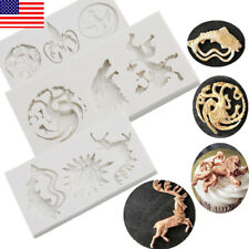 USA Game of Thrones Silicone Cake Molds 3D Fondant Mould Chocolate Baking Tool