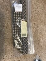 Longaberger Small Loaf / Biscuit Basket Khaki Check Fabric Drop In Liner Only