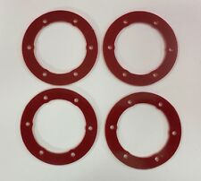 XTREME RACING PROLINE SPLIT SIX BEAD LOC BEADS RED G-10 2mm (4pc) SLASH SC10