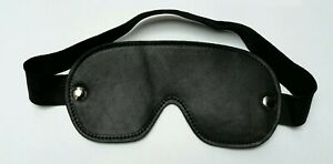 Brand New 100% Real Leather Deluxe Blindfold wide Mask
