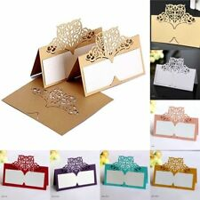 Name Place Cards Table Card Seating Seat Laser Cut Decor Party 50 Pcs