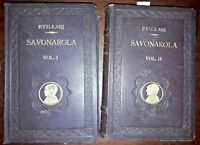 1926 - J79 VILLARI, PASQUALE. LA STORIA DI GIROLAMO SAVONAROLA