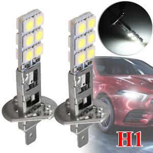 2PC NEW H1 6000K Super White 55W LED Headlight Bulbs Kit Fog Driving Light