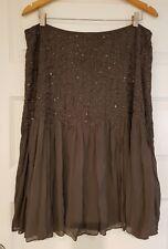 Jacqui E size 16 Khaki beaded evening skirt