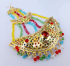 Ethnic Belly Head Decoration Jhoomar South Indian Dulhan Jewelry Pearl Cz Tikka
