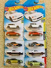 Hot Wheels JDM 2019 Nissan Skyline, Honda Civic EF Honda CR-X Lot Of 10