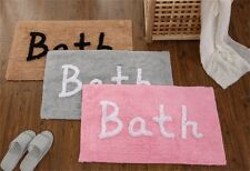 Bath Mat Bath Design Washable 100% Cotton Bathroom Decor 5Color NON SLIP SOFT