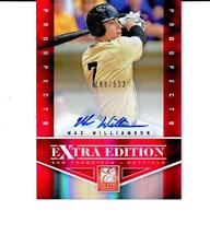 2012 Elite Extra Edition #179 Mac Williamson SF Giants Autograph # 198/533