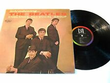 "Beatles LP ""INTRODUCING THE BEATLES"" Authentic Vee Jay Version 2 MONO Brackets."