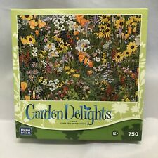 New Garden Delights Flowers 750 puzzle Mega Wildflower Tapestry Spring Field
