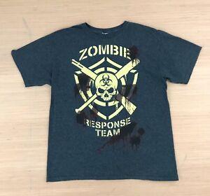 Zombie Response Team Men's Gray T-shirt Medium