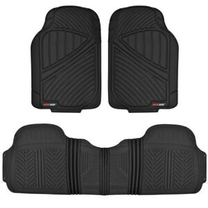 Car Floor Mat Heavy Duty 100% Odorless Motor Trend All Weather Protection Black