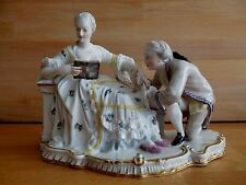 LATE 19TH / 20TH CENTURY NYMPHENBURG PORCELAIN COLOURED FIGURE GROUP OF LOVERS