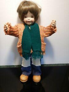VINTAGE ANRI  Wooden Boy Doll     Gabriel