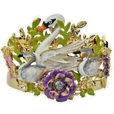 Kirks Folly Fairyland Swans Cuff Bracelet with Fairies Average-Size 2017 Release