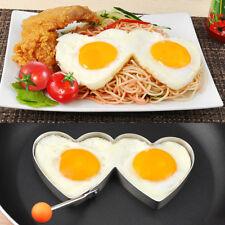 Stampo acciaio forma metallo CUORI uovo uova pancake anello cuore cottura cucina
