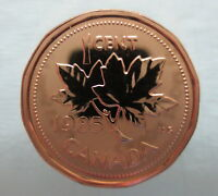 1985 CANADA 1 CENT PROOF-LIKE PENNY COIN