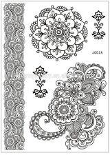 Black Gothic Henna Temporary Tattoo Kit Rose Shoulder Tattoo Sticker Arm Body UK