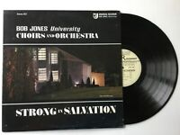 BOB JONES UNIVERSITY BRASS CHOIRS & ORCHESTRA Strong In Salvation LP+bonus CD