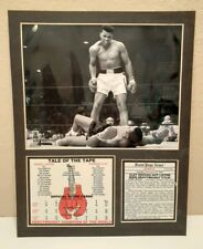 Muhammad Ali Sonny Liston Knockout Tale of the Tape Picture & Stat Card