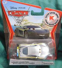 Disney Pixar Cars 2 Silver Racer Series LEWIS HAMILTON w/METALLIC FINISH 2012