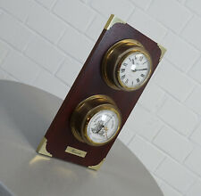 alte Eble Hanseatic Holz Wetterstation Thermometer Barometer Vintage 60er Jahre