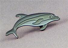 DOLPHIN - PIN BADGE  - SEA CREATURE DOLPHINS SWIMMING DIVING     (NB-06)