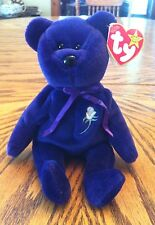 Authentic 2nd Edition Ty Princess Diana Beanie Baby Royal Purple Retired RARE