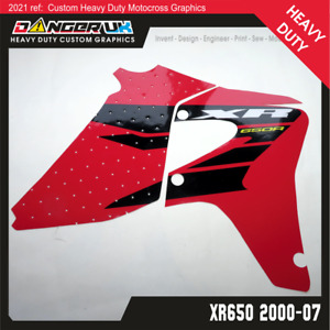 HONDA XR 650 04 2000-2007 TANK RAD SCOOPS RADIATOR SHROUDS GRAPHICS DECALS