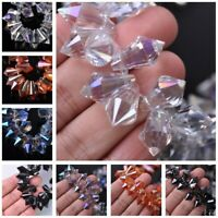 10pcs 20X11mm Teardrop Faceted Crystal Glass Hanging Pendants DIY Loose Beads