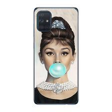 Funda gel dibujo Audrey Hepburn para Samsung A51 A71 A90 5G