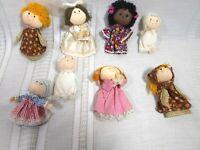 Hallmark Little Dolls  8 Finger puppets