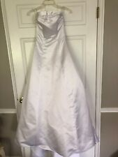 White David Bridal Size 4 Strapless Great Shape.