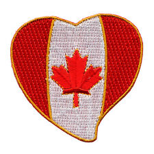 Le Canada Coeur Ottawa Canada Heart flag drapeau patch écusson Aufbügler 0613