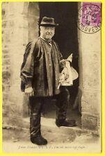 cpa Ed. Le Goubey, St PIERRE ÉGLISE PAYSAN NORMAND J'viens d'écouter la TSF...