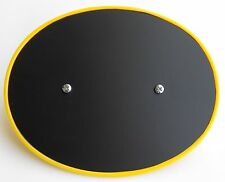 SUZUKI TM125 TM250 RM125 RM250 YELLOW/GLOSS BLACK RAISED EDGE FRONT # PLATE