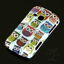 Samsung Galaxy Mini 2 / S6500 Hard Case Handy Hülle Etui Cover bunte Eule Owl