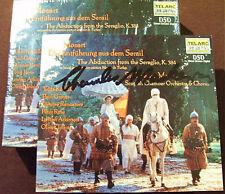 Charles MACKERRAS signed Mozart l'enlèvement du sérail 2cd Telarc Kodalli