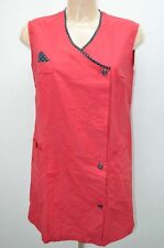 BLOUSE ROUGE NYLON OVERHALL TABLIER APRON KITTEL BLUSE TAILLE 38